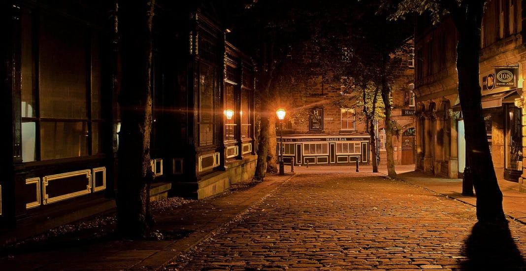 Nacht, Straße, Dunkel, Licht