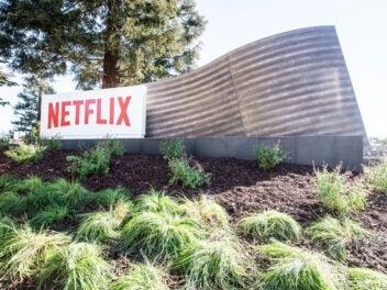 Das Netflix Logo in Los Gatos