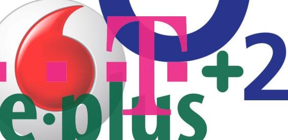 Netze: O2, E-Plus, Vodafone, Telekom
