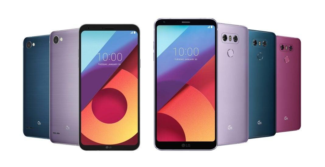 Neue Farben für LG-Smartphones V30, Q6 und G6