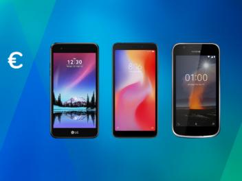 Drei Handys unter 100 Euro von Nokia, LG und Xiaomi
