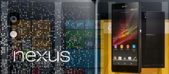 Nexus 4, Sony Xperia Z und Windows Phone 8