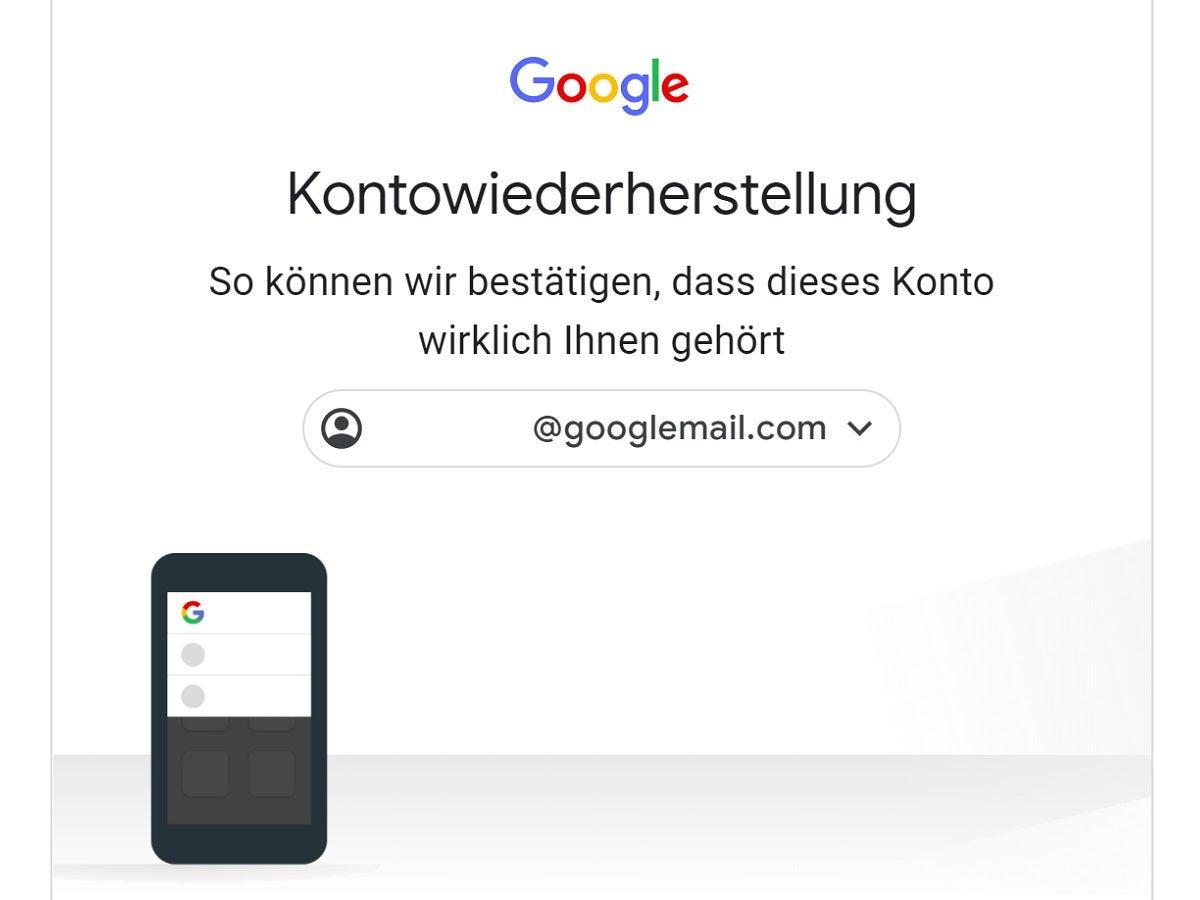 Google kann identität nicht bestätigen