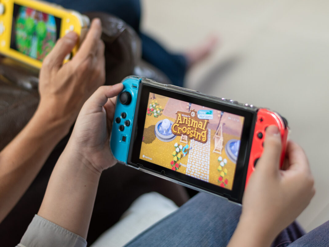 Nintendo Switch Lite mit Animal Crossing