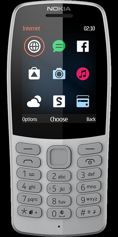 Das Pressebild des Nokia 210 in grau.