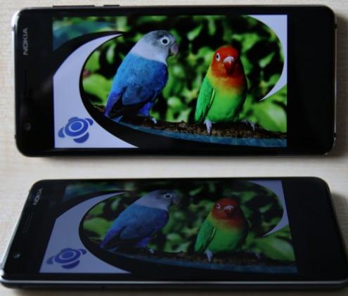 Nokia 3.1 im Test Blickwinkelstabilität