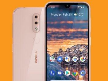 Das Nokia 4.2 in der Farbe Pink Sand.