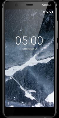 Nokia 5.1 Schwarz Vergleichsbild