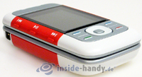 Nokia 5300 Xpress Music: Draufsicht links unten