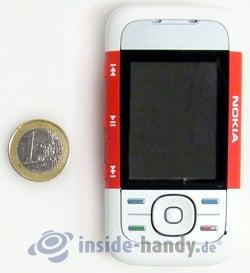 Nokia 5300 Xpress Music: Größenverhältnis