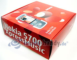 Nokia 5700 XpressMusic: Verpackung