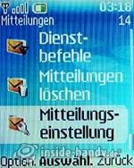 Nokia 6085: Mitteilungen