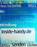 Nokia 6085: Neue Kurzmitteilung