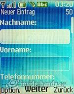Nokia 6085: Neuer Eintrag