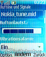 Nokia 6085: Ruftöne und Signale
