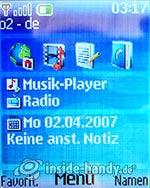 Nokia 6085: Startbildschirm