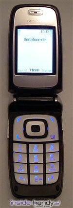 Nokia 6101 - aufgeklappt