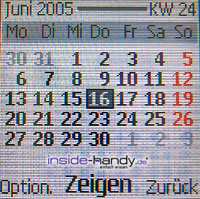 Nokia 6230 - Display Kalender