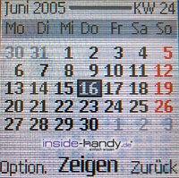 Nokia 6230 - Display Kalender