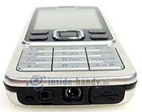 Nokia 6300: Draufsicht unten