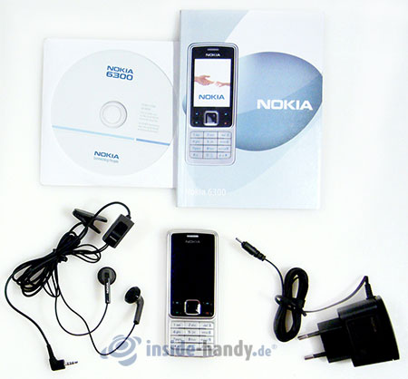 Nokia 6300: Lieferumfang