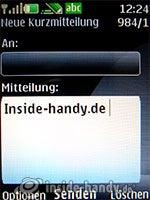 Nokia 6300: Nachricht schreiben