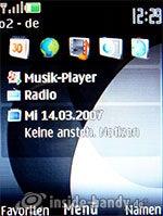 Nokia 6300: Startbildschirm