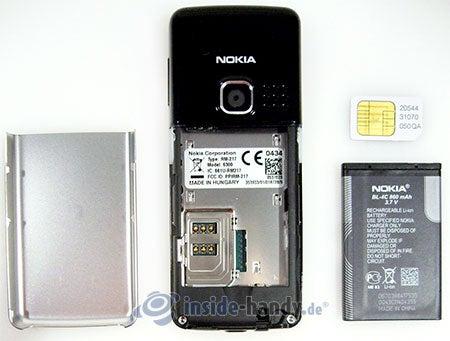 Nokia 6300: zerlegt in Bestandteile