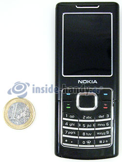Nokia 6500 Classic: Größenverhältnis