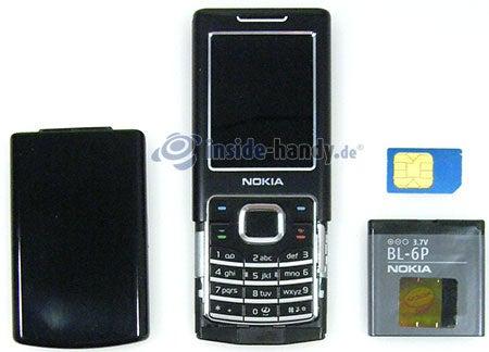 Nokia 6500 Classic: offenes Gerät vorne