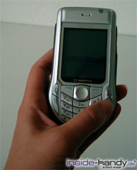 Nokia 6630 - in der Hand