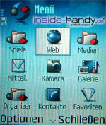 Nokia 6630 - Menü