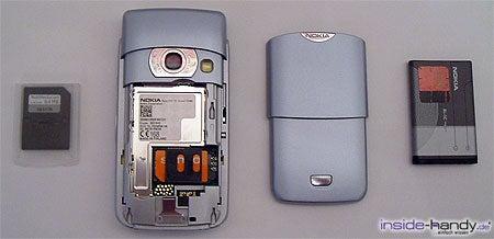 Nokia 6680 - zerlegt von hinten