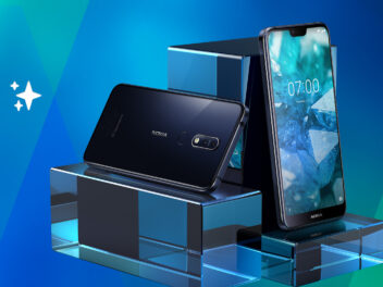 Das Nokia 7.1 von vorne und hinten