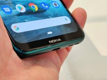 Nokia 7.2 mit dickem unteren Rand