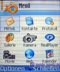 Nokia 7610 - Display Menü