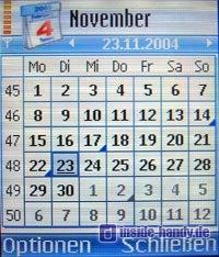 Nokia 7610 - Kalender Monatsansicht