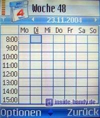 Nokia 7610 - Kalender Wochenansicht