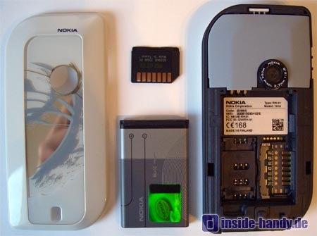 Nokia 7610 - Rückseite ohne Akku
