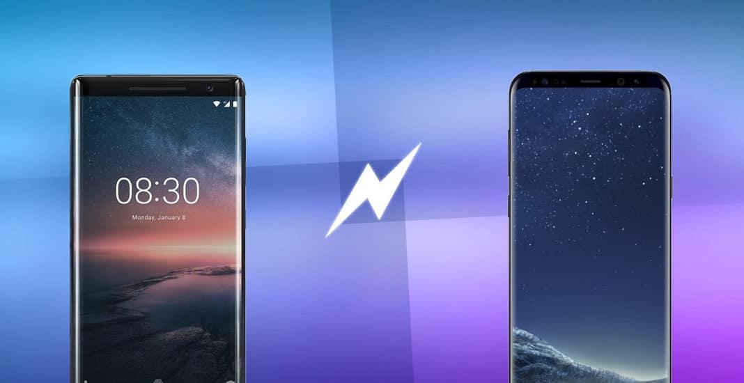Nokia 8 Sirocco vs Samsung Galaxy S8