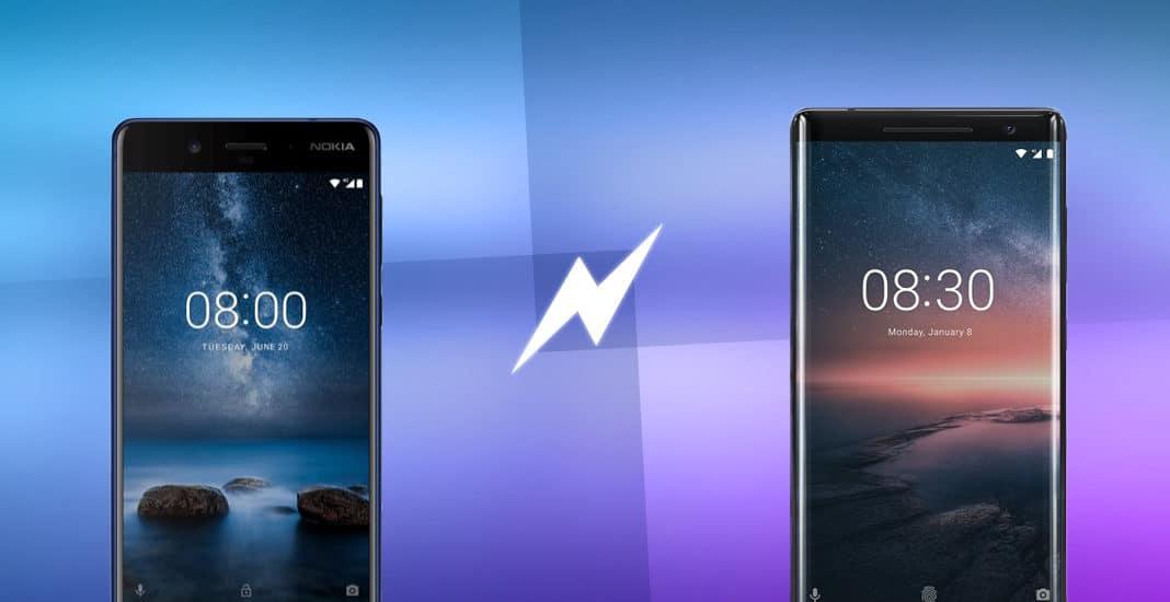 Nokia 8 und Nokia 8 Sirocco im Vergleich