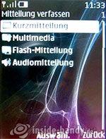 Nokia 8600 Luna: Mitteilung verfassen