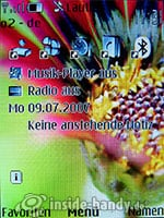 Nokia 8600 Luna: Startbildschirm