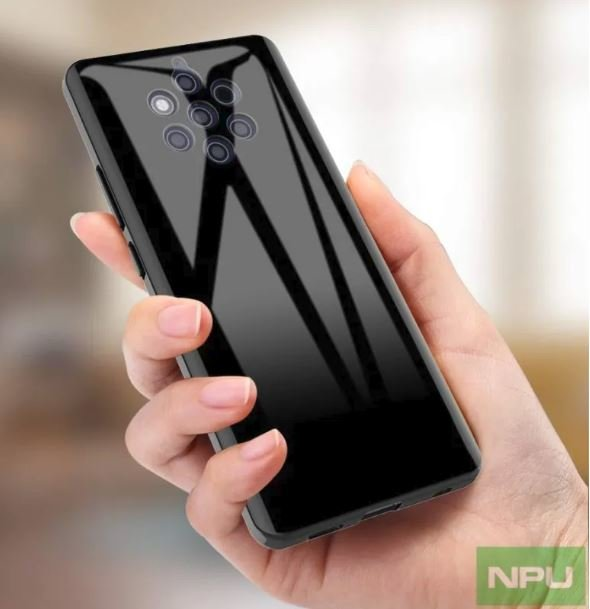 Das Nokia 9 Pureview von hinten in einer Hand