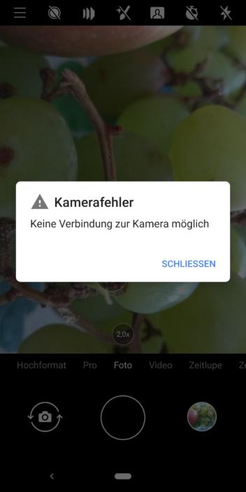 Kamerafehler beim Nokia 9 PureView