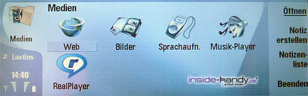 Nokia 9300 - Medien