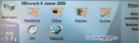 Nokia 9300 - Menü