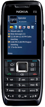 Nokia E51 ohne Kamera Datenblatt - Foto des Nokia E51 ohne Kamera