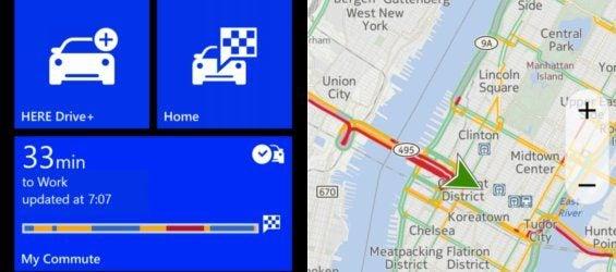 Screenshots von Nokia Here Drive My Commute