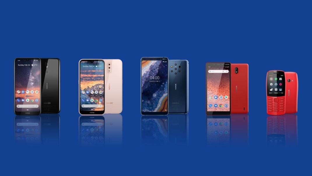 Das komplette Nokia-LineUp auf dem MWC 2019